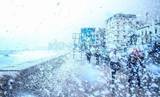 أمطار الثلج فى الإسكندرية