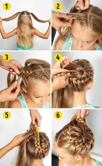 بالصور والخطوات اتعلمى تسريحات شعر جديدة لبناتك قبل المدرسة
