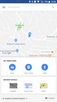خرائط جوجل على اندرويد