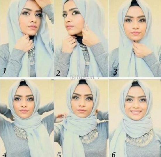 لفة حجاب تناسب السهرة