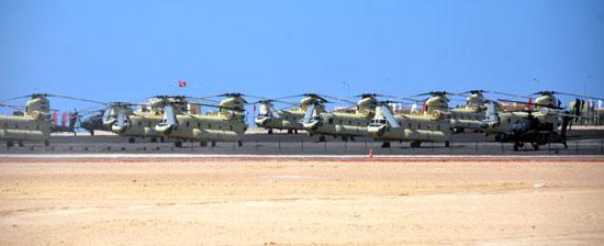 الطائرات فى قاعدة محمد نجيب العسكرية