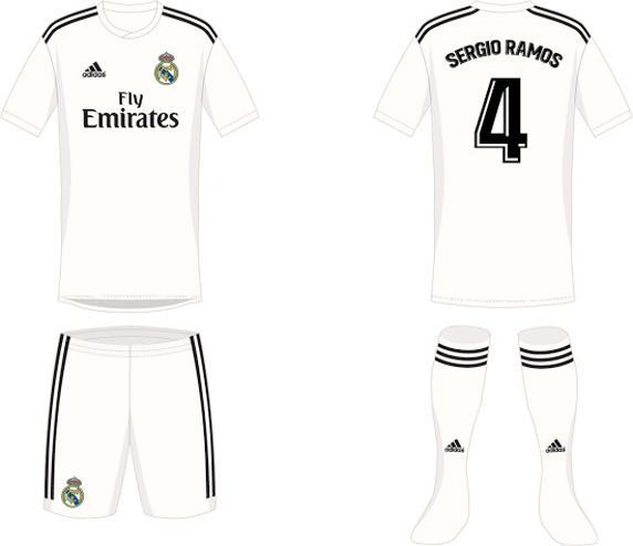 القميص الأول لنادى ريال مدريد فى موسم 2019