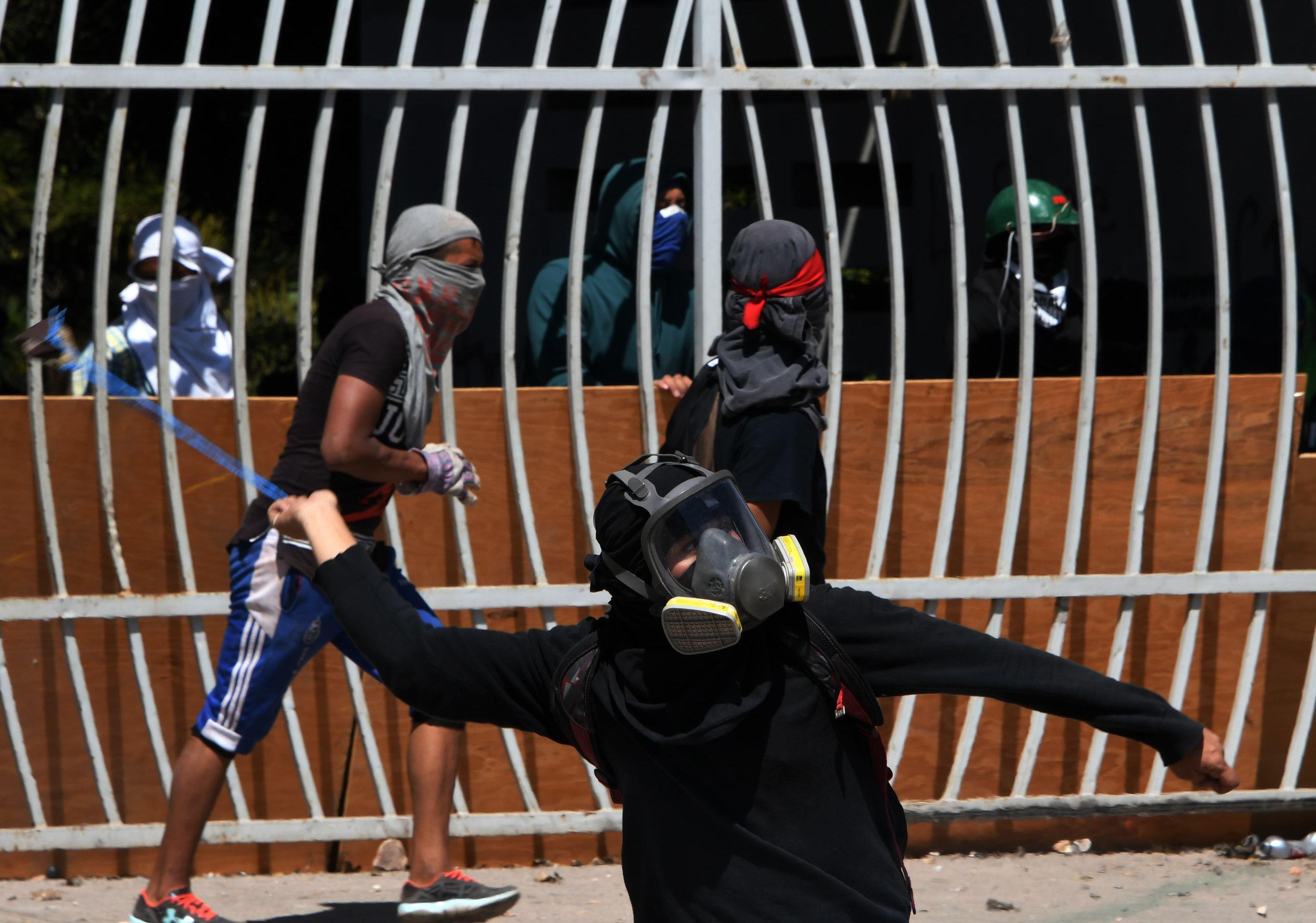 احتجاجات عنيفة فى هندوراس