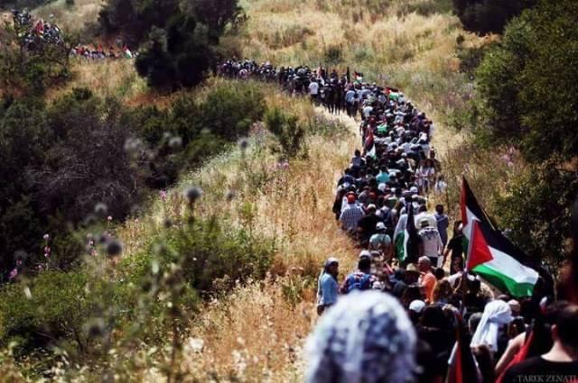 فلسطينيون يستعدون لمسيرة العودة الكبرى