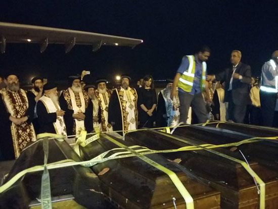 رفات الأقباط المصريين ضحية مذبحة سرت الليبية (3)