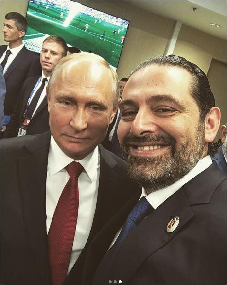 سعد الحريرى مع الرئيس الروسى بوتين