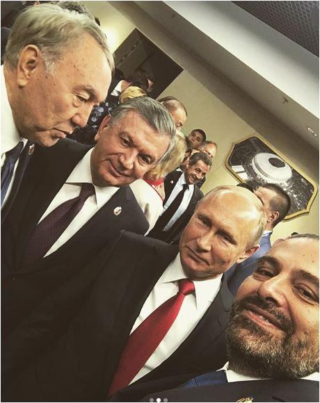 سيلفى أخر لسعد الحريرى مع بوتين