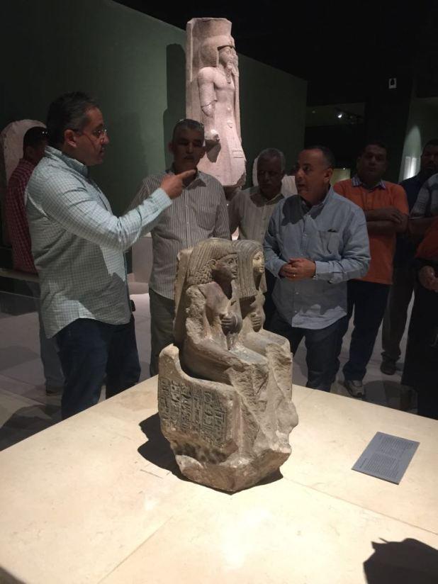 وزير الآثار يتابع أعمال متحف سوهاج لقرب افتتاحه (10)