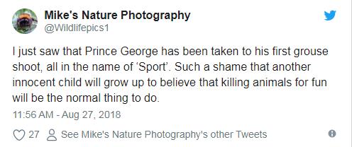 تدوينات غاضبة من الأمير ويليام بعد رحلة صيد الأمير جورج على تويتر