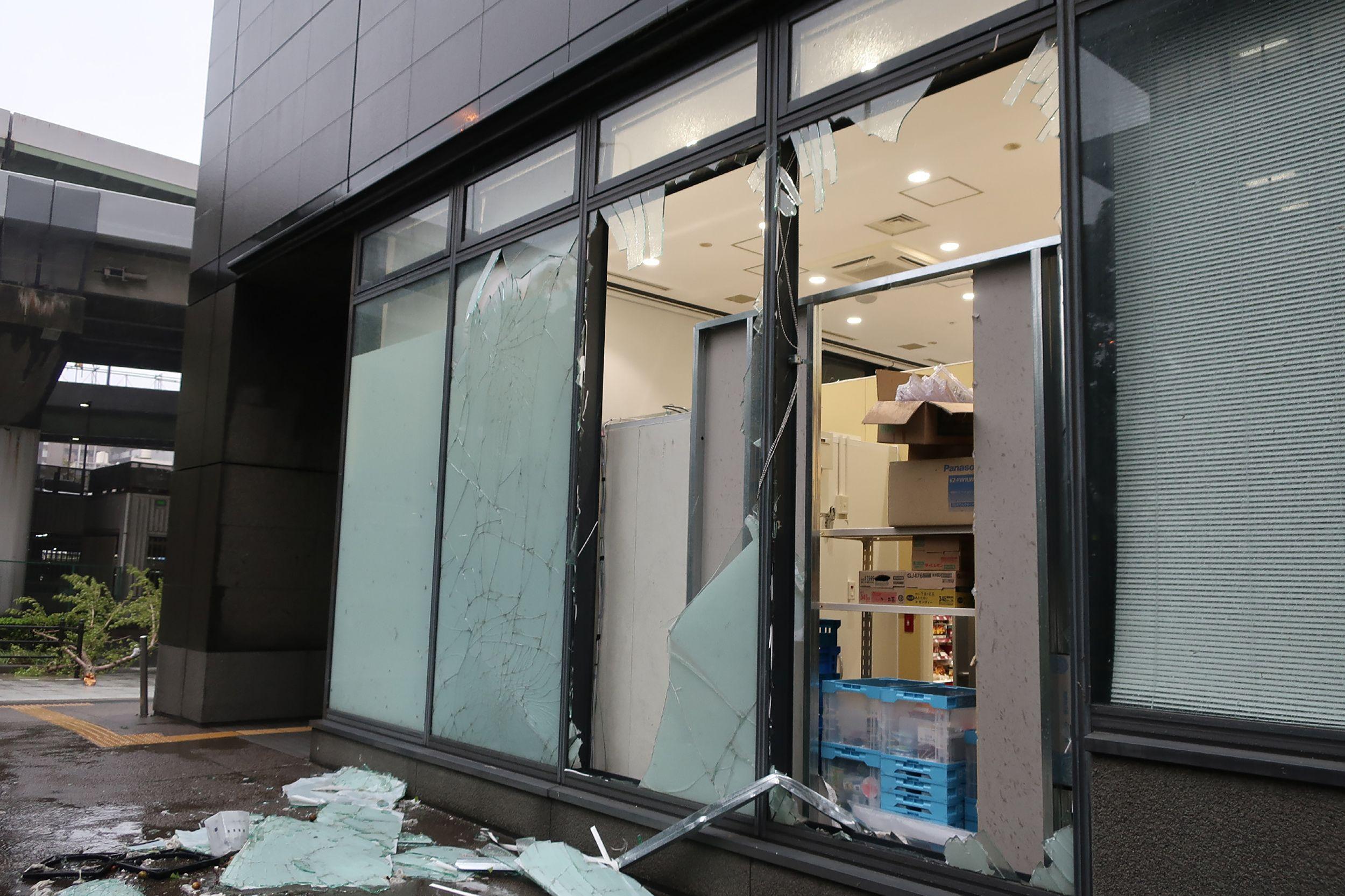 تضرر المنازل فى اليابان