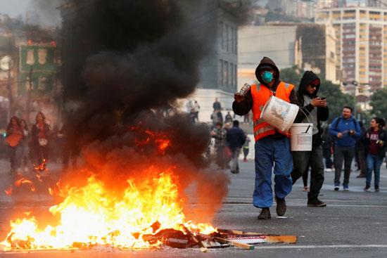 جانب-من-مظاهرات-تشيلى
