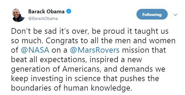 تدوينة باراك أوباما