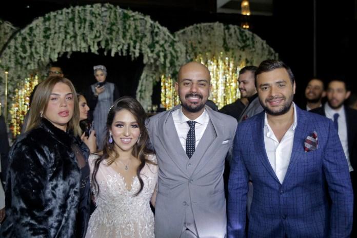 Rami Sabri et sa femme avec la mariée