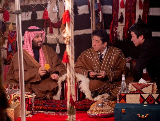 شينزو-آبى-ومحمد-بن-سلمان