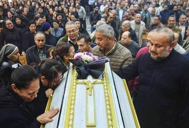 Funeral of the bride of paradise Dr. Samah Nabil Shahida Microbus Doctors of Menia (3)