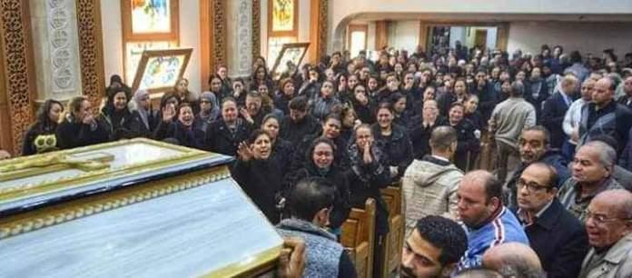 Funeral of the bride of paradise Dr. Samah Nabil Shahida Microbus Doctors of Menia (1)