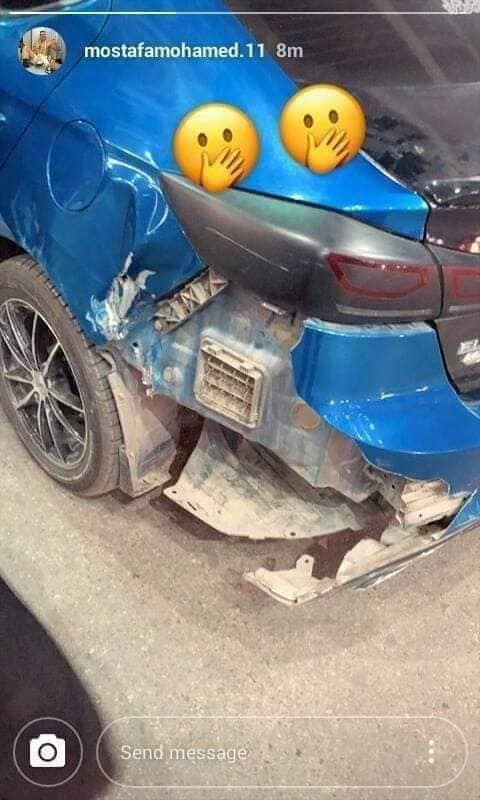 Mustafa Mohamed's car