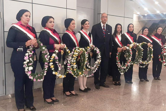 The arrival of the Zamalek mission and the reception with flowers (6)