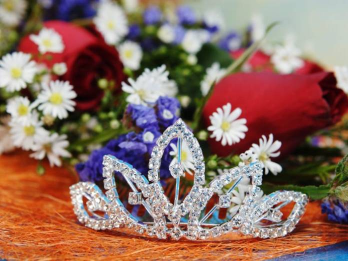 The crown of the beauty queen