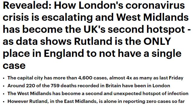 تفشي كورونا في لندن