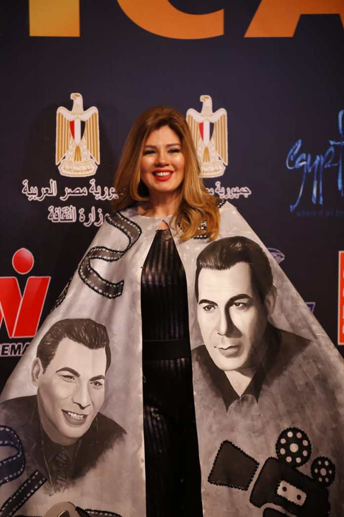 Artist Rania Farid Shawky during her participation in the festival