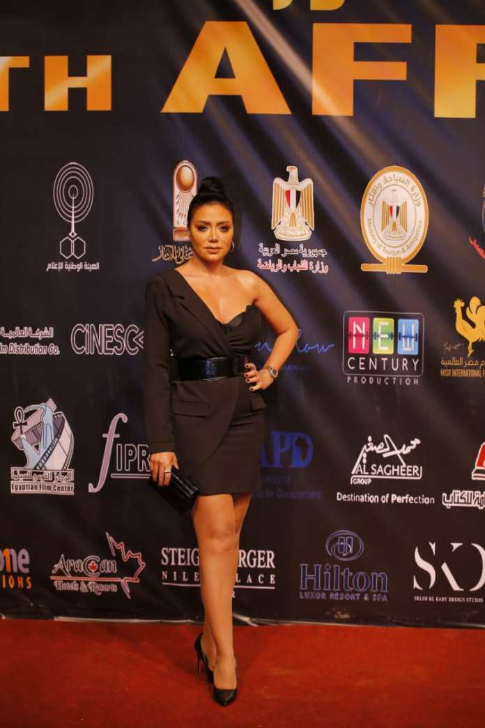 Rania Youssef during her participation in the Luxor Festival