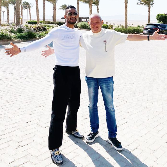 Naguib Sawiris and Mohamed Ramadan