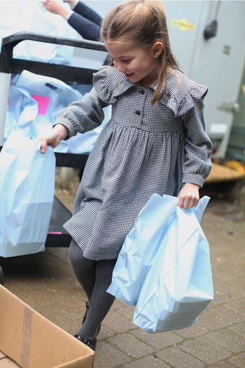 On her fifth birthday ... Princess Charlotte covers food for isolated areas because of Corona