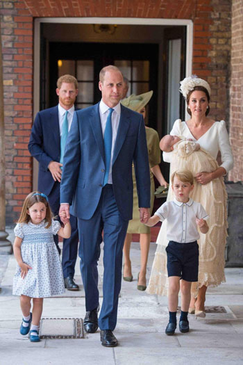 Prince William, his wife Kate and their three children