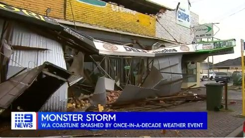 The weather is destroying some establishments in Australia