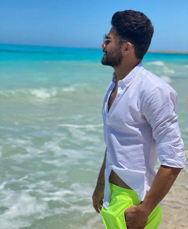 Yasser Ibrahim on the beach
