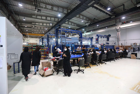 Workers make a number of gags at the factory