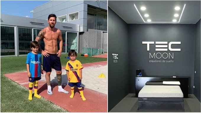 Messi and his two sons