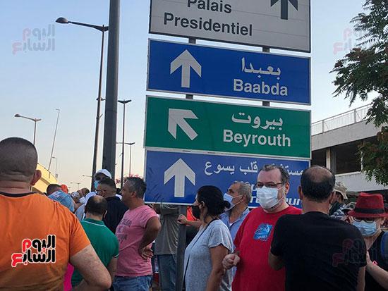 تظاهرات دعما للرئيس اللبنانى فى بيروت (1)