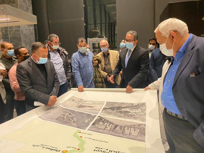 الوزير يتابع الاعمال النهائية للمتحف