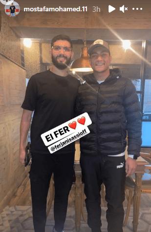 Mustafa Mohamed with Farjani