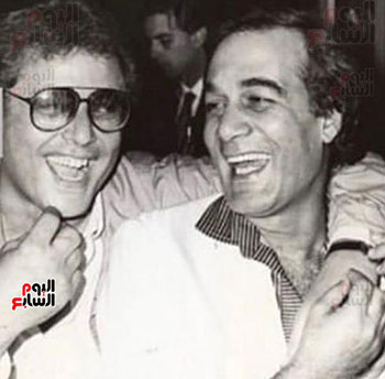 Mahmoud Yassin and his dear friend Mahmoud Abdel Aziz