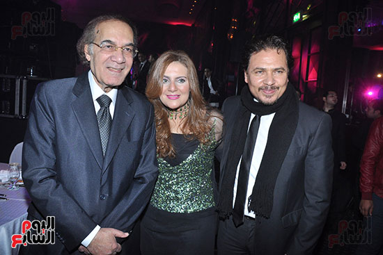 Mahmoud Yassin and his daughter Rania and her husband Mohamed Riad