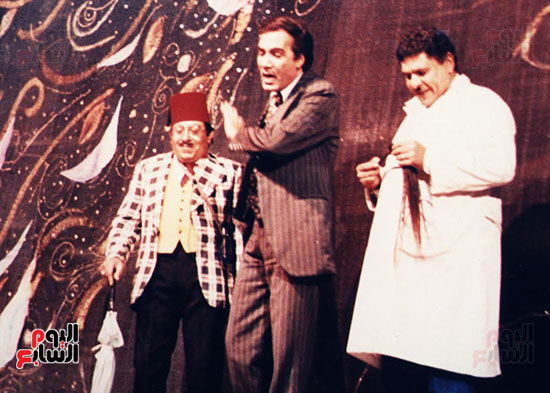 A scene from one of the plays by Mahmoud Yassin