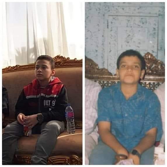 Al-Mansi child and his son Hamza
