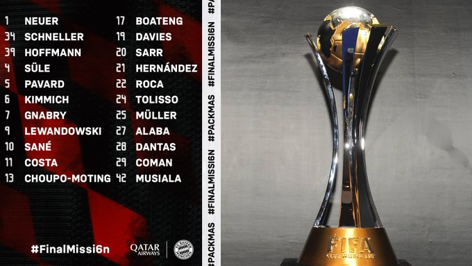 قائمة بايرن ميونخ لكأس العالم للاندية
