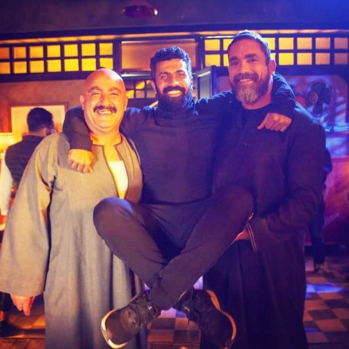 Ahmed El Sakka and Amir Karara, director Mohamed Sami