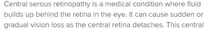 Central retinopathy