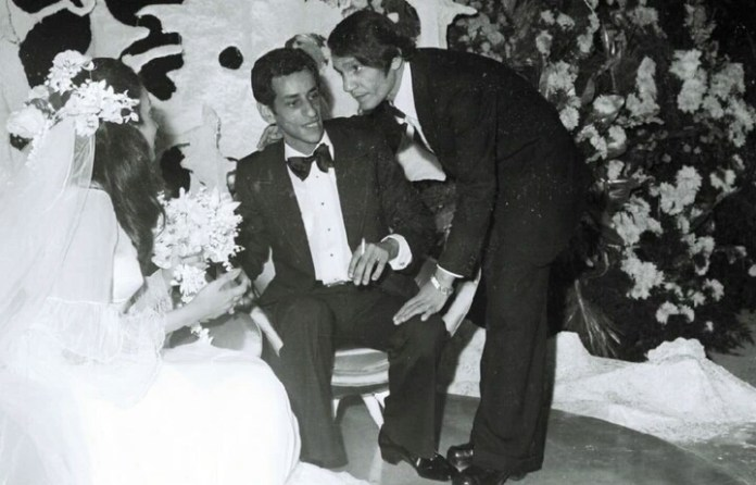 Abdel Halim Hafez in the joy of Sadat's daughter