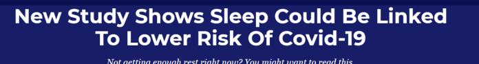 Sleep and Coronavirus
