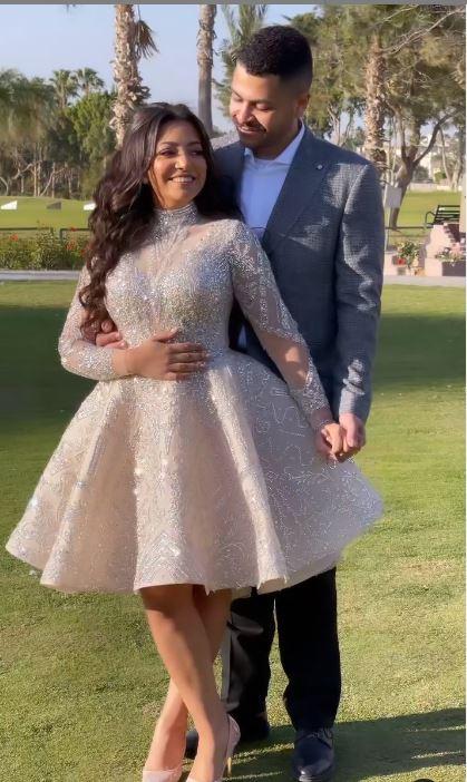 Badriya Tolba's daughter and her husband