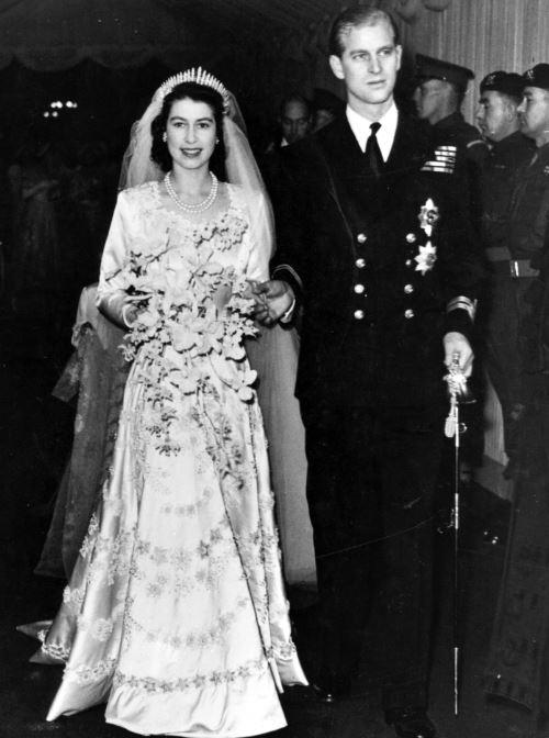 Prince Philip on his wedding day