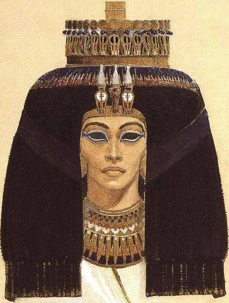 Akhenaten's mother, Queen T, painted by director Shady Abdel Salam