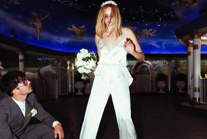 Sophie Turner and her husband at her wedding