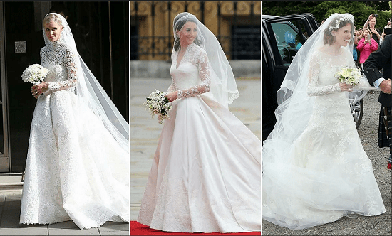 Wedding dresses (5) are inspired by Kate Middleton's dress